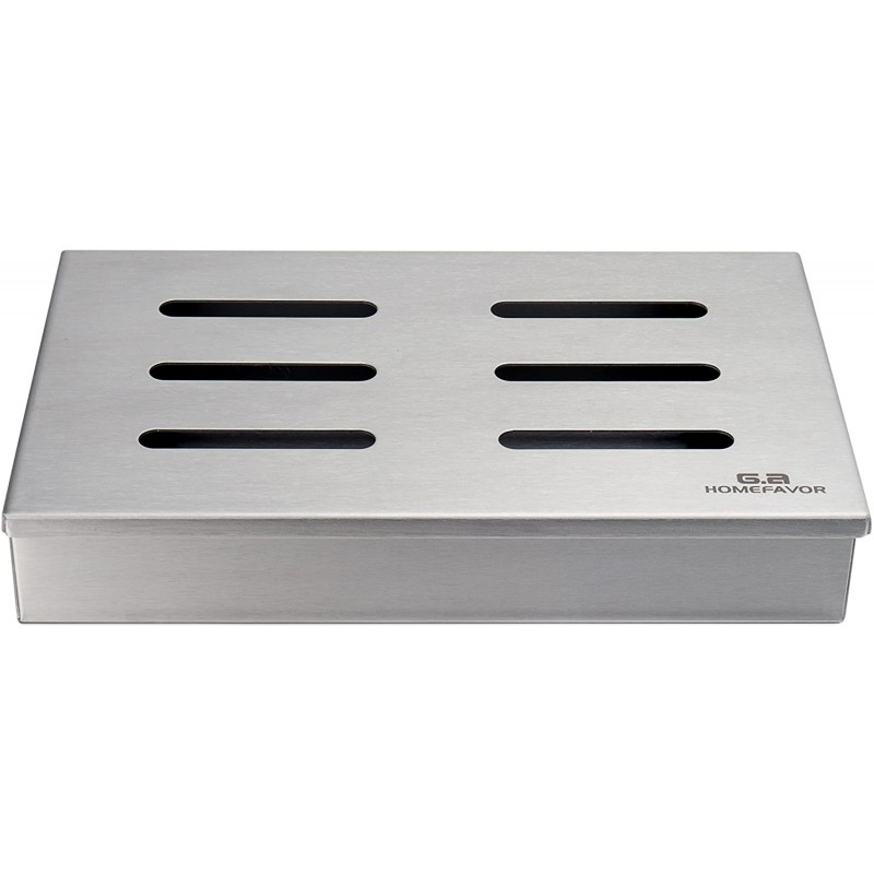 G.a HOMEFAVOR Stainless Steel Non-Stick Grill Smoker Box