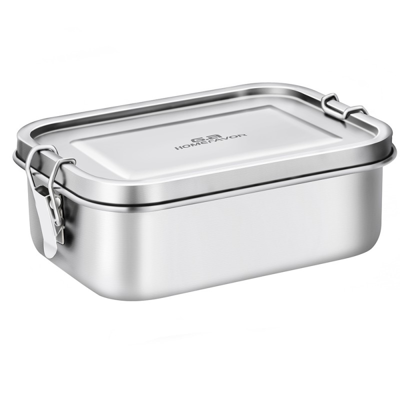 G.a HOMEFAVOR Bento Lunch Box, 800 ml Stainless Steel Lunch Containers Leakproof