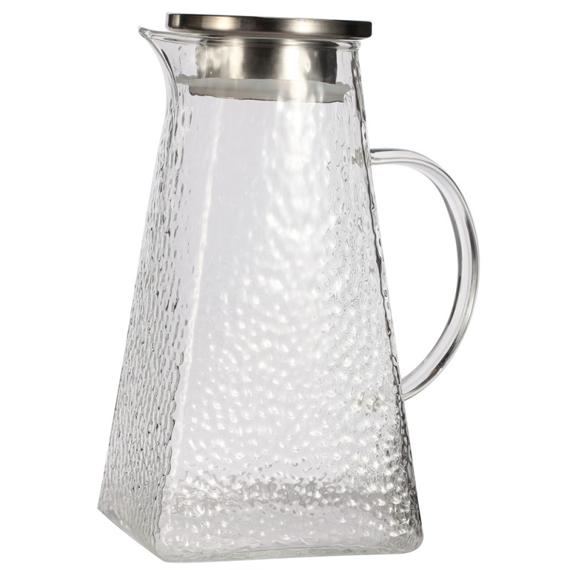 G.a HOMEFAVOR Borosilicate Glass Jug with Lid, Water Carafe, All-Purpose 1800 ml Glass Pitcher for Your Table