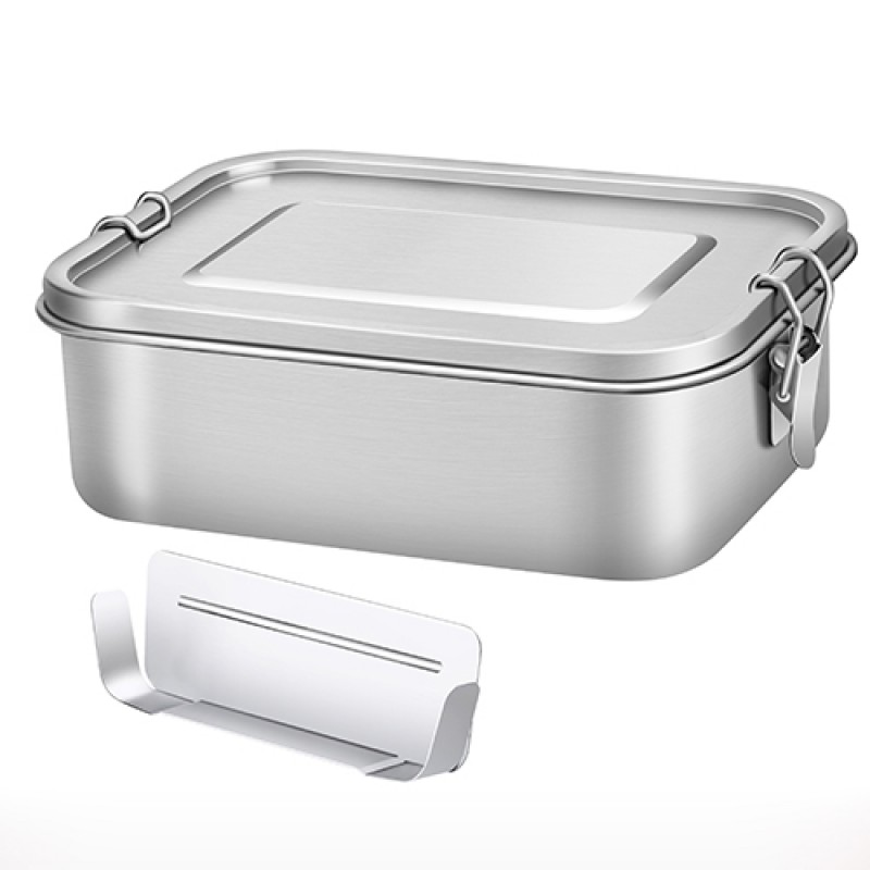 G.a HOMEFAVOR 1200ML Lunch Box Leakproof Food Container Stainless Steel Bento Box incl. Removable Divider